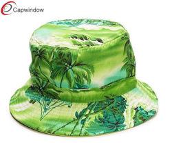 Polpular tropische Blumenbaumwollwannen-Hut-Form-Hüte