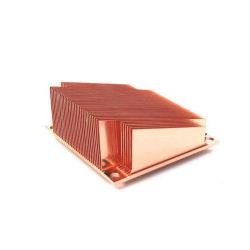 Dissipatore di calore del materiale di Coppper dell'aletta raschiato OEM