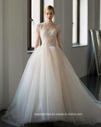 2018 reale Foto-Spitze-Brautkleider A - Zeile Tulle-kundenspezifisches Hochzeits-Kleid G17281