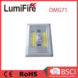 200lumen Pilas COB inalámbrico LED Luz del interruptor de noche