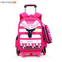 China-drehten heiße Verkaufs-Zugpendel-Beutel-Kinder Laufkatze-Schule-Rucksack für Mädchen