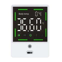 Цифровой манометр Wall-Mounted интеллектуальные рычага упора для рук термометр цифровой Non-Touch с ЖК-дисплеем лихорадки функция будильника