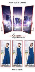 床置きの折りたたみ広告 32 インチデジタルサイネージ LCD LED ディスプレイポータブル レストラン / ホテル / プロモーション用ビデオメディア広告プレーヤー
