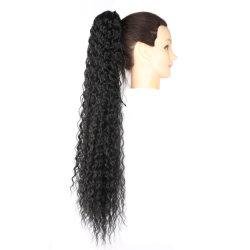 """30"""" черный цвет женщина продление высокой синтетических выступе Clip Ponytail кривой"""