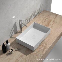 Rectangle acrylique Surface solides Corian Nouvelle Salle de Bain lavabo lavabo