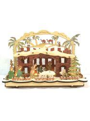 LED красочный деревянный дом рождественские украшения и подарки