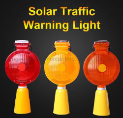 충전식 LED 스트로브 충전식 교통 신호등 바리케이드 램프 로드 금속 클립이 있는 섬광등 위험 점멸 센서