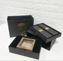 Le gaufrage feuille chaude estampage boîte cadeau d'emballage du papier en carton, papier de luxe Bijoux OEM/anneau/benne Necklace/Earring/Bracelet/Watch/tie à l'emballage cadeau