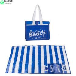 선전용 인쇄한 로고를 가진 박판으로 만들어진 바닷가 픽크닉 담요를 방수 처리하십시오