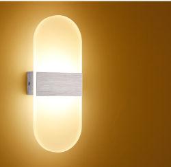 Современный светодиодный настенный светильник с одной спальней для установки внутри помещений 3W алюминиевый настенный светильник