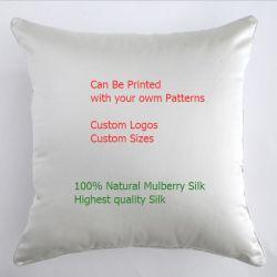 Custom цифровой печати шелковые подушки сиденья в квадратной формы