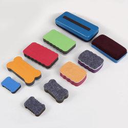 Borrador de pizarra magnética marcador plástico Limpiador Pizarra toallitas borrador de la Oficina de la escuela
