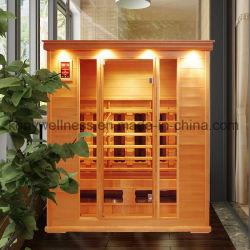 Un Sauna sec salle carrée faite de la Pruche Bois avec ce ETL