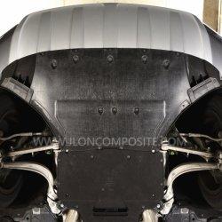 Negro PP60 termoplástico de fibra de vidrio tejido protector de motor del coche