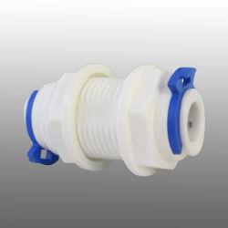 "3/8"" Lebensmittelqualität Kunststoff Wasserfilter Bulkhead Union Quick Pipe Montage"