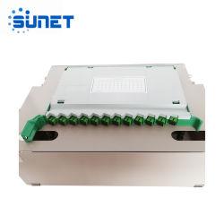 FTTH 1U 2U montage en rack de plein air ODF, 4 8 12 24 48 72 96 144 port fibre optique de base du châssis de distribution