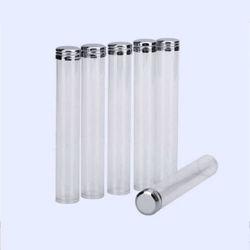 Um tubo de depressão do tubo de sangue ou teste de laboratório, o tubo de plástico