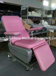 병원 높이 뒤 환자 IV 주입은 혈액 의자 IV 폴란드 기다리는 의자를 착석시킨다