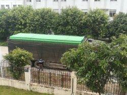 De HDPE com tubo de cor verde para a água reciclada