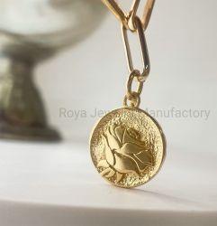 Gemaakte hand - nam het Goud van het Patroon 18K plateerde 925 de Echte Zilveren Juwelen van de Armband toe
