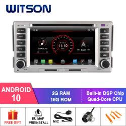 Auto-DVD-Spieler des Witson Vierradantriebwagen-Kern Android-10 für ROM Hyundaisanta fe 2007-2011 2g DES RAM-16GB