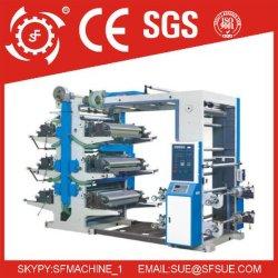 De PP PE Saco Plástico Sacola de Compras duplo de 6 cores enfrentou o plástico filme Flexo/Flexografia a máquina