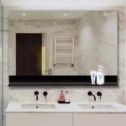 أثاث جديد التصميم الحمام مرآة حائط مع إطار تخزين معدني لديكور المنزل/صالون