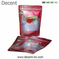 Pochette de rangement laminée Ziplock Ziplock avec fermeture à glissière imprimée Kraft Papier emballage en plastique souple aliments surgelés riz café thé En-cas