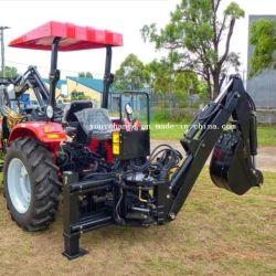 Venta caliente Nuevo Diseño Lw-7e 30-55HP Tractor agrícola de la rueda de 3 puntos de la TDF remolcable enganchado de la unidad de desplazamiento lateral de la excavadora cargadora retroexcavadora con el pulgar