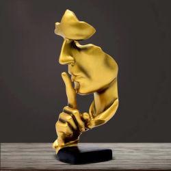 シンカーの像の沈黙は金の彫刻の Returrulpture の反響室である デスクトップ・ディスプレイ