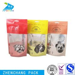 حقيبة قص بلاستيكية قابلة لإعادة الإغلاق يمكن طباعتها بألوان متعددة طعام الحيوانات الأليفة