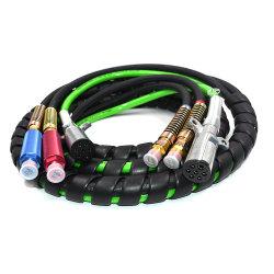 مقطورة سوداء 12 قدمًا 3 في 1 ABS مطاطية للهواء الكهربائي الخرطوم