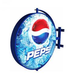Индикатор высокого качества Wall-Mounted открытый круглый рекламы вращающийся блок освещения
