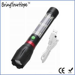 Kundenspezifische Firmenzeichen 10W Mikro-USB-aufladenfackel-Solartaschenlampe (XH-SL-T03)
