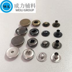 Аксессуары для одежды высокого качества раунда 4 частей пользовательского металлической пружины нажмите кнопку совмещения для одежды Одежда покрыть куртка