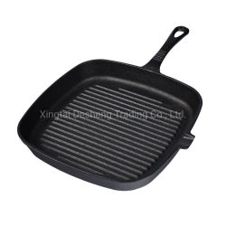 DS-Gp02 Amazon Grill Pan grigliate in ghisa pre-stagionate