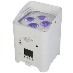 مؤشر LED للبطارية في نظام التحكم اللاسلكي في الطراز DMX بقدرة 4×18 واط باللون الأسباني