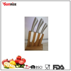 4pcs Keramikmesserset mit hohl Griff und Bambusblock (KCK045)