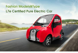 Mini maar sterke elektrische auto, met EEG-certificaat, L7e, Ternary Lithium Battery NCM, EU Standard Charge