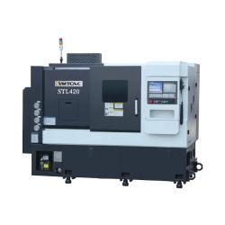 STL420 máquina de torno CNC de precisión de la cama inclinada con el centro de la molienda de giro
