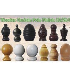 De houten Staaf Finials Houten Finials van het Gordijn voor Gordijn Polen