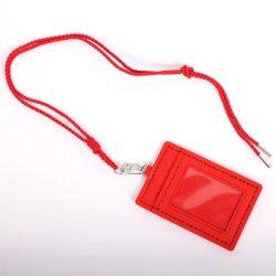 Grama Verde Vertical Premium de plástico PP Cartão ID Badge Holder-Double Lados claro