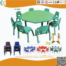 روضة أطفال قاعة الدرس خشبيّة [سكهوول فورنيتثر] خشبيّة مثمنة طاولة لأنّ أطفال