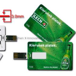 ユニバーサルスマートなクレジットカードカスタム印刷を用いるUSB 3.0のフラッシュ駆動機構1GB
