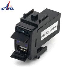 DC12V 2.1A Mini USB разъем питания LED прикуривателя автомобиля зарядное устройство с аудио Outlut для Mazda автомобиль