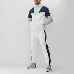 Оптовая торговля моды OEM на заказ мужская цветной блок белый Tracksuit светоотражающие беговая дорожка Tracksuit