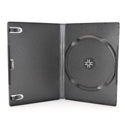 Sunshing Padrão grossista 14mm preto único CD DVD VCD caso para Ultra Thin um disco DVD Box