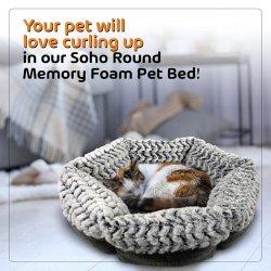 Producto de la Mascota Pet Bed Faux Fur cama perro de espuma de memoria