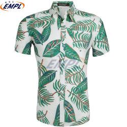 На заводе прямой продажи 100% хлопок Custom цветочным рисунком печать Hawaiian мужские Повседневные рубашки