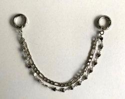 La mode personnalisable Chaîne en métal en couches des accessoires pour vêtements